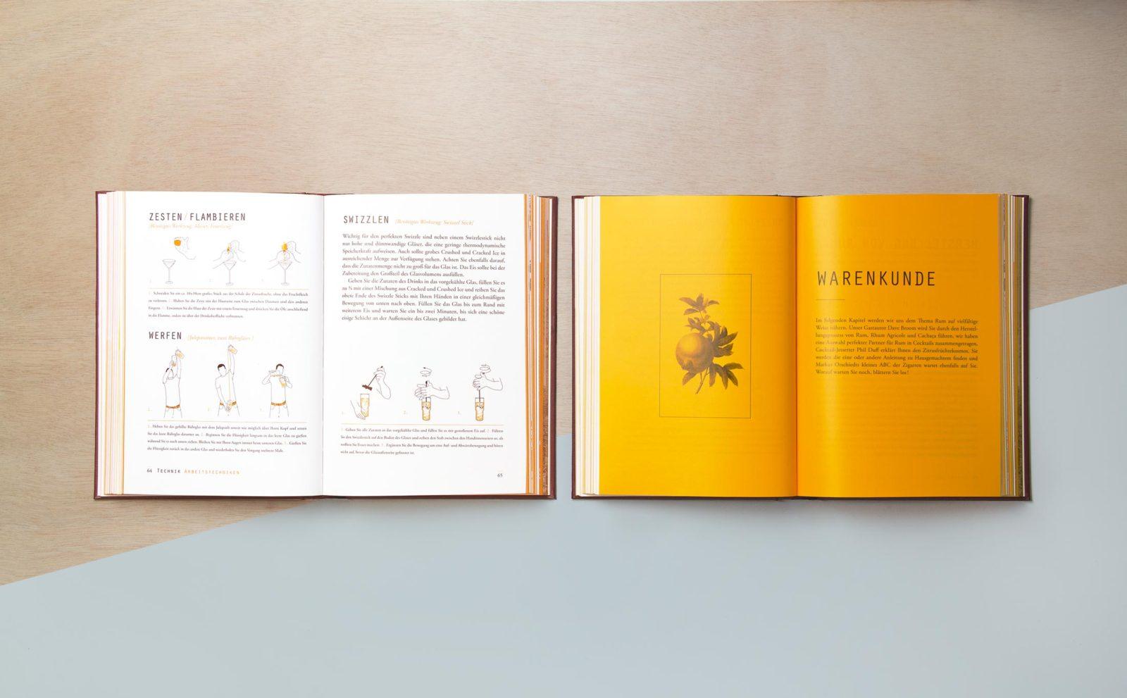 Kommunikationsdesign, Buchgestaltung, Grafikdesign, Cocktailian 2 Rum & Cachaça