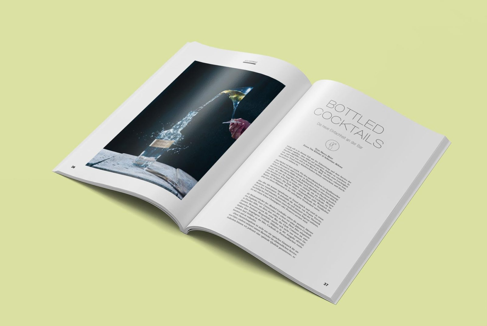 Editienne Grafikdesign - Kommunikationsdesign Berlin- Editorial Design Mixology Magazine 29