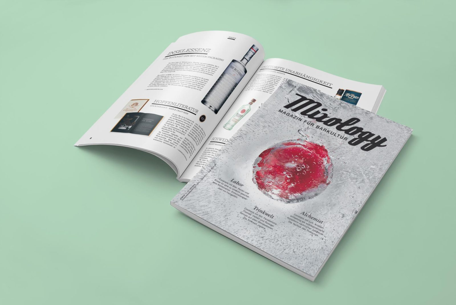 Editienne Grafikdesign - Kommunikationsdesign Berlin- Editorial Design Mixology Magazine 30