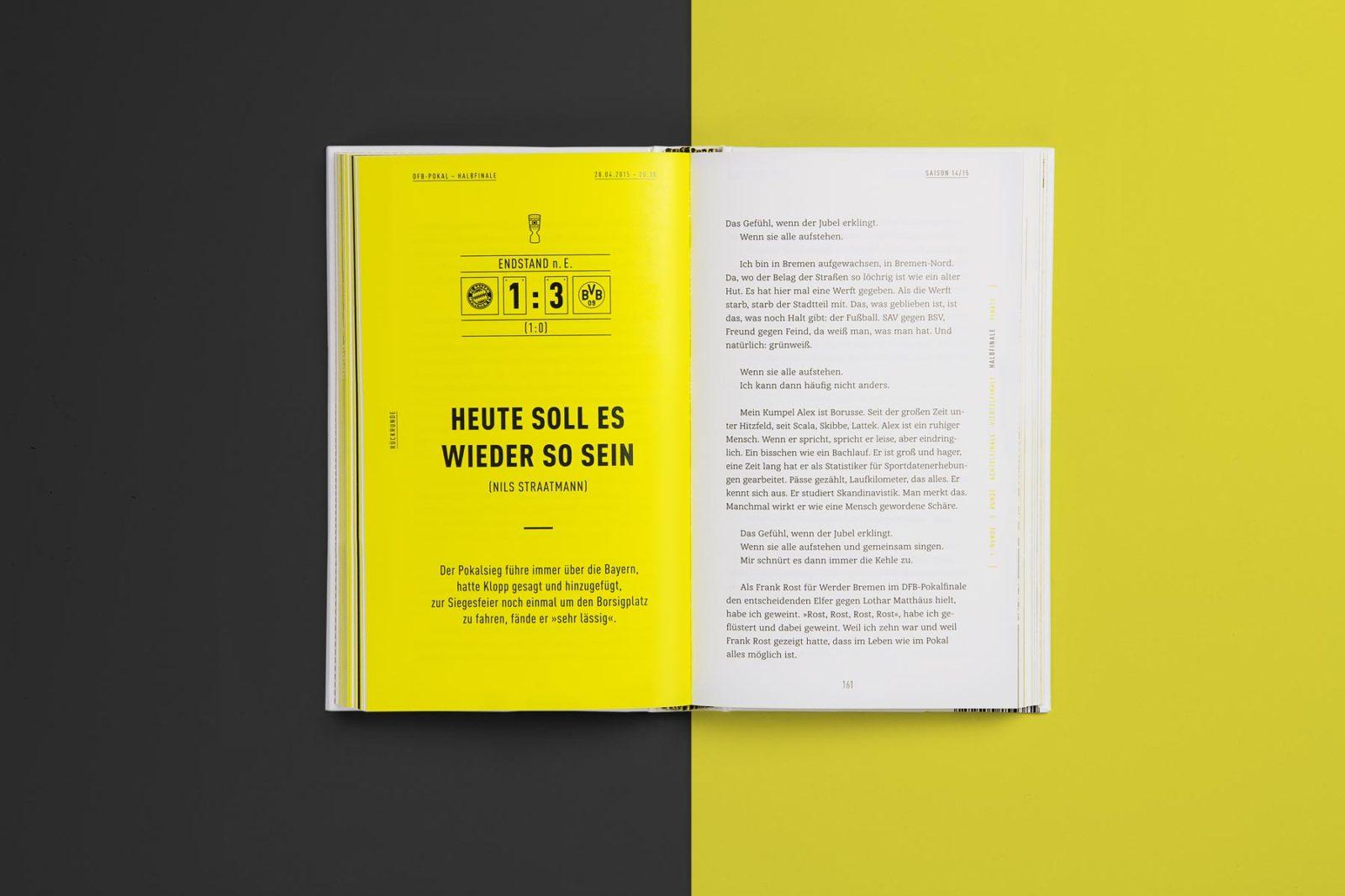 Editienne Grafikdesign - Kommunikationsdesign Berlin- Buchcoverdesign und Buchgestaltung Borussia Dortmund- BVB Buch 10