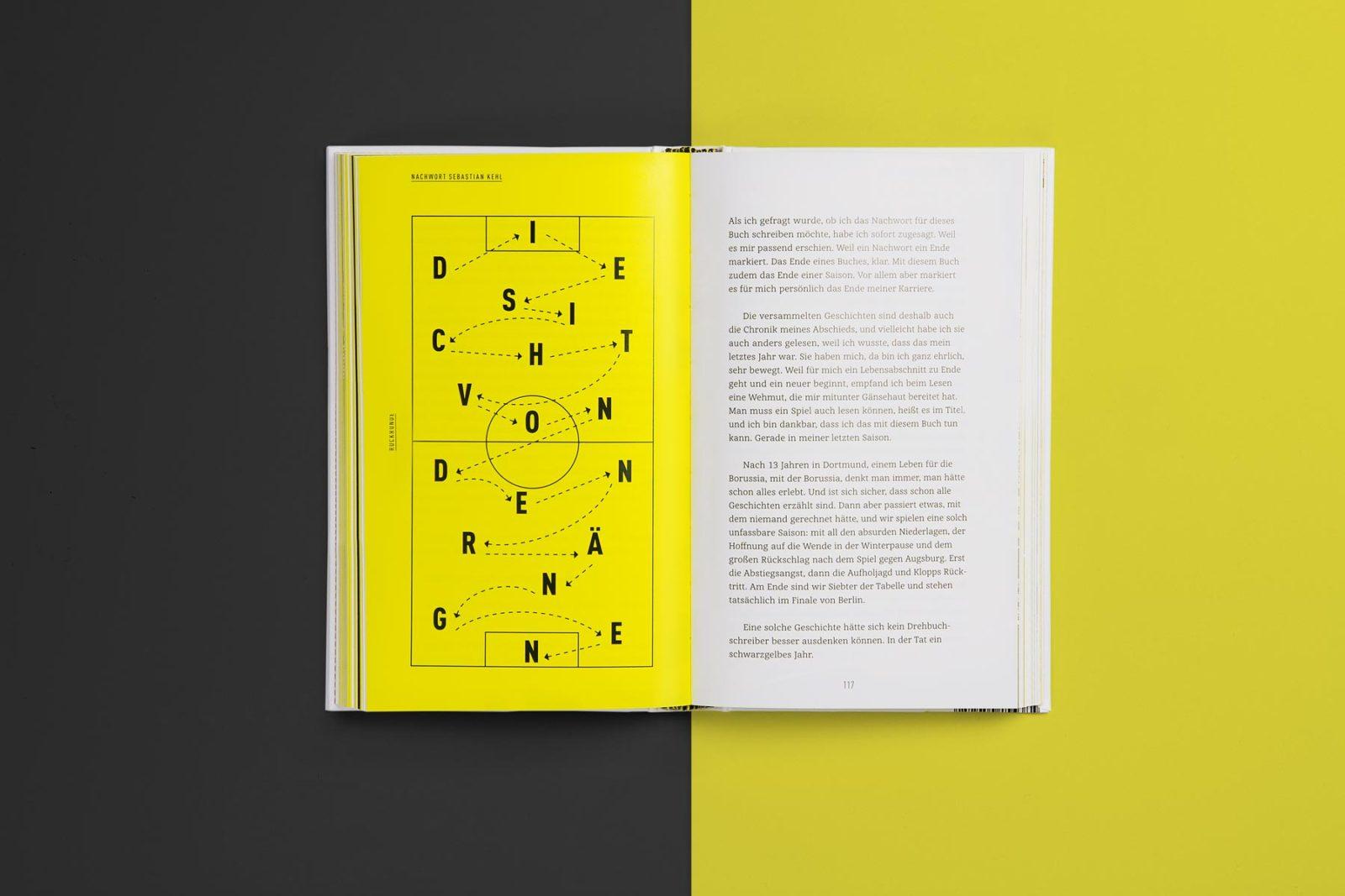 Editienne Grafikdesign - Kommunikationsdesign Berlin- Buchcoverdesign und Buchgestaltung Borussia Dortmund- BVB Buch 12