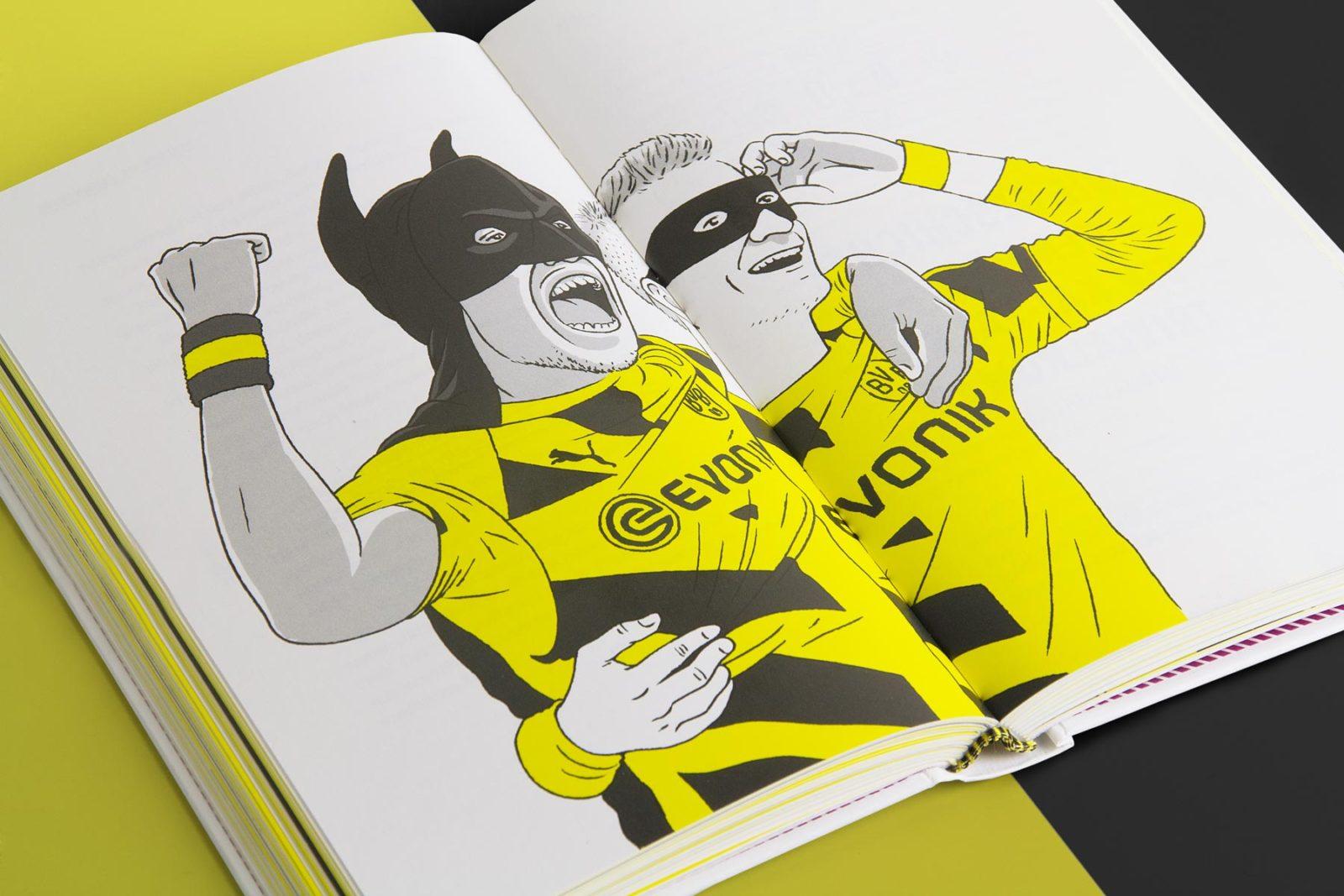 Editienne Grafikdesign - Kommunikationsdesign Berlin- Buchcoverdesign und Buchgestaltung Borussia Dortmund- BVB Buch 16