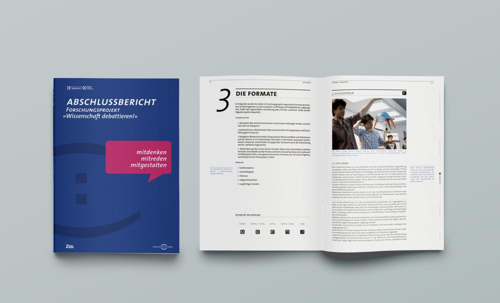 Editienne Grafikdesign - Kommunikationsdesign Berlin- Corporate Publishing Editorial Design Wissenschaft im Dialog 17
