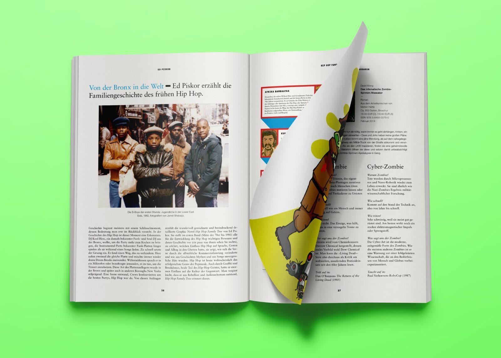 Editienne Grafikdesign - Kommunikationsdesign Berlin- Editorial Design Buchvorschaugestaltung Metrolit Magazin 27