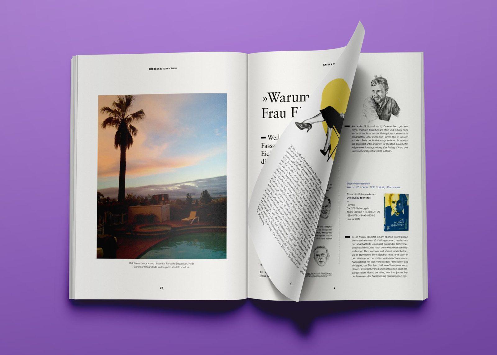Editienne Grafikdesign - Kommunikationsdesign Berlin- Editorial Design Buchvorschaugestaltung Metrolit Magazin 28