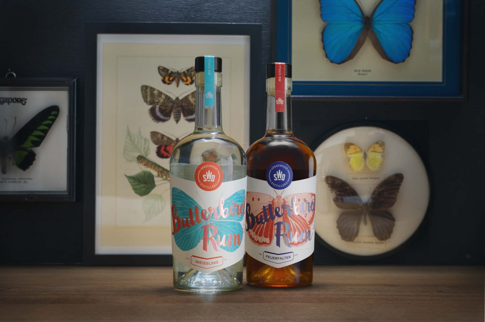 Editienne Grafikdesign - Kommunikationsdesign Berlin- Packaging Design- Spreewood Distillers- Butterbird Rum 12