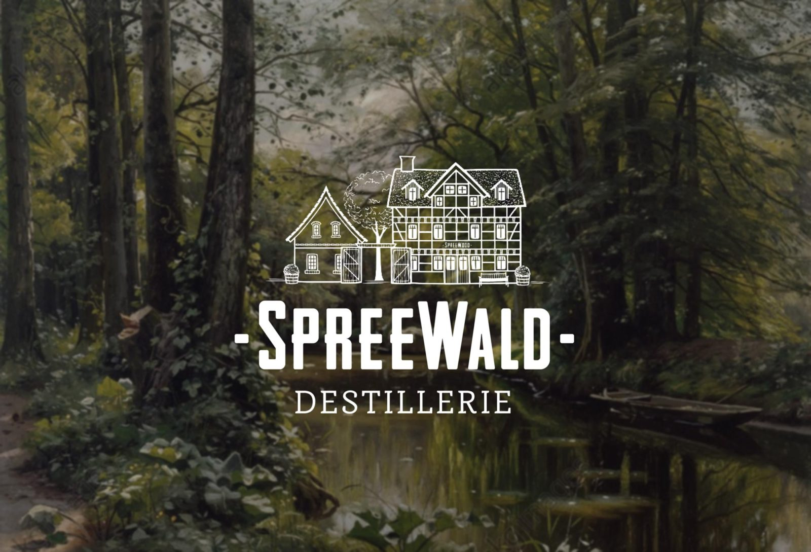 Editienne Grafikdesign - Kommunikationsdesign Berlin- Beverage Packaging Design Spreewood Distillers Logo