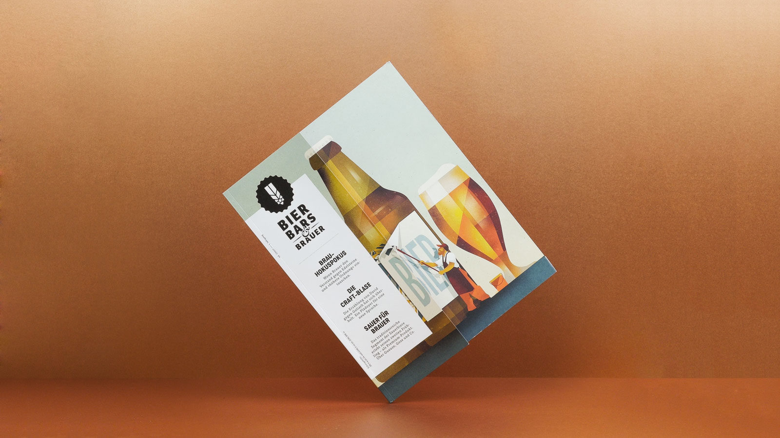 Editienne Grafikdesign - Kommunikationsdesign Berlin-Editorial Design Bier Bars und Brauer Magazin 14