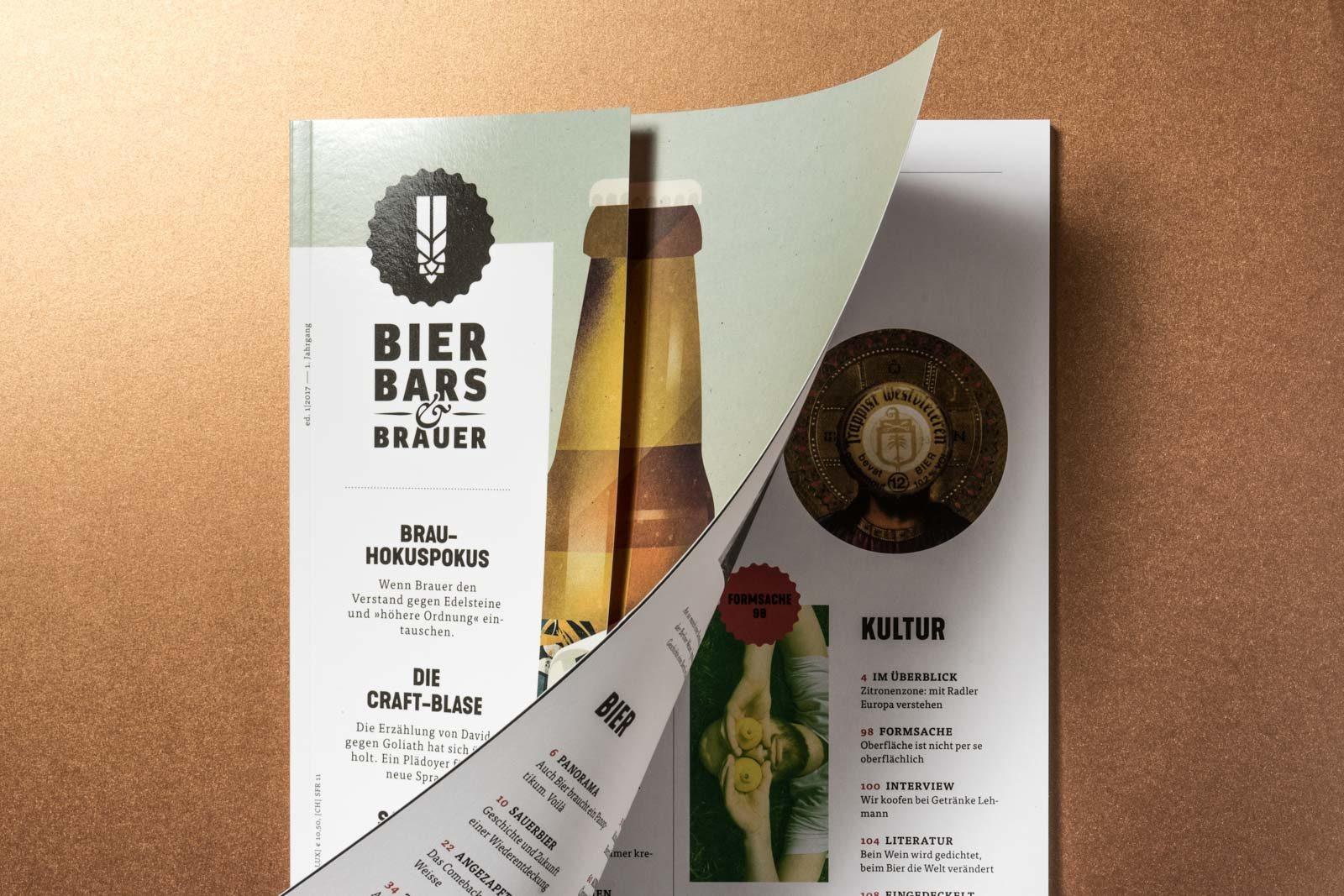 Editienne Kommunikationsdesign- Editorial Design für Bierliebhaber- Bier Bars&Brauer