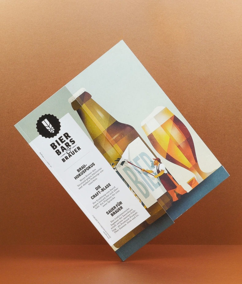 Editienne Grafikdesign - Kommunikationsdesign Berlin-Editorial Design Bier Bars und Brauer Magazin 17
