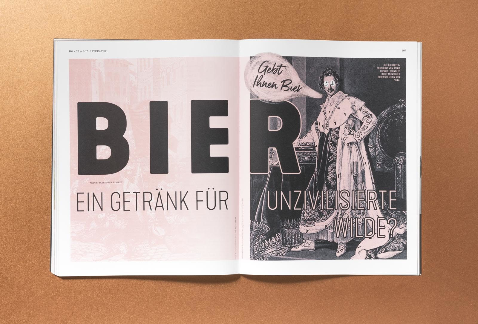 Editienne Grafikdesign - Kommunikationsdesign Berlin-Editorial Design Bier Bars und Brauer Magazin 3