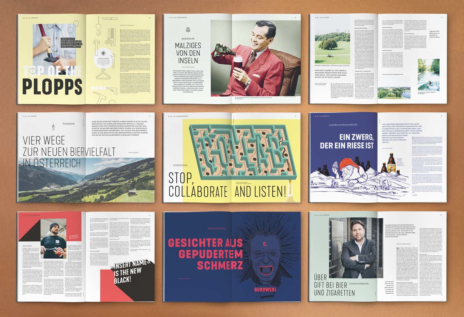 Editienne Grafikdesign - Kommunikationsdesign- Editorial Design Bier Bars Brauer Magazin 21