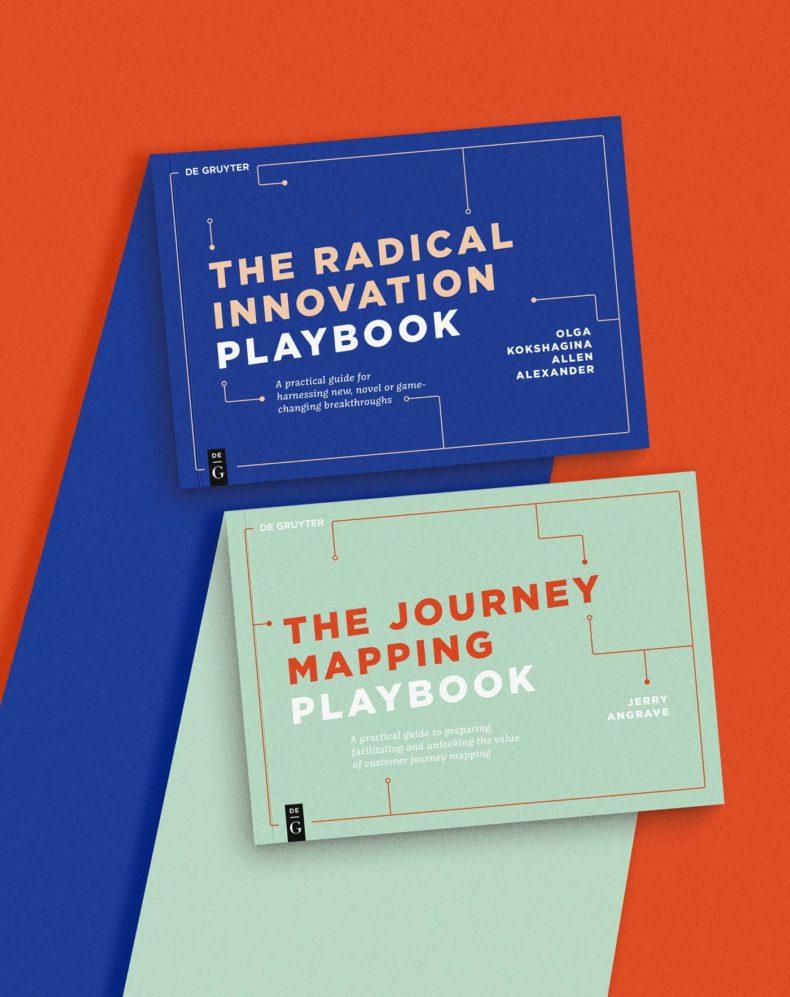 Buchinnengestaltung, Design, Kommunikationsdesign, Grafikdesign, deGryuter Playbooks, Covergestaltung